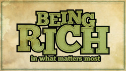 Being Rich - Week 1 Image